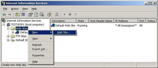 Multiple Web Sites in IIS for Windows 2000 and Windows XP